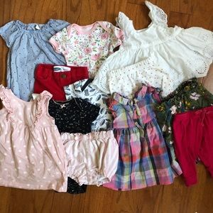 7 Piece Baby Girl's Mystery Clothing Bundle 0-6
